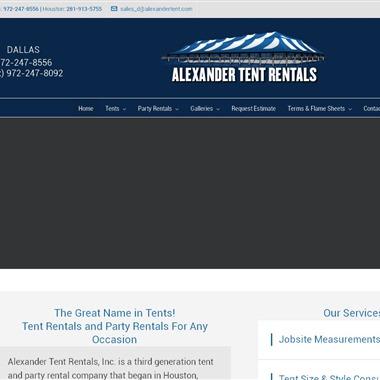 Alexander Tent Rentals Inc wedding vendor preview