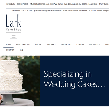 Lark Cake Shop wedding vendor preview