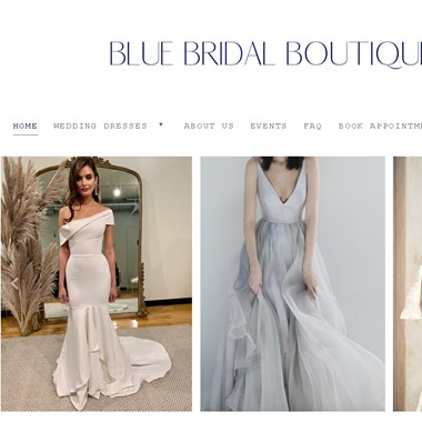 Blue Bridal Boutique wedding vendor preview