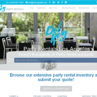 Del Rey Party Rentals wedding vendor preview