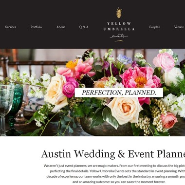 Yellow Umbrella Events wedding vendor preview