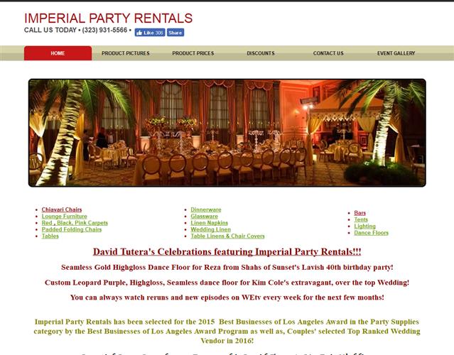 Imperial Party Rentals wedding vendor photo