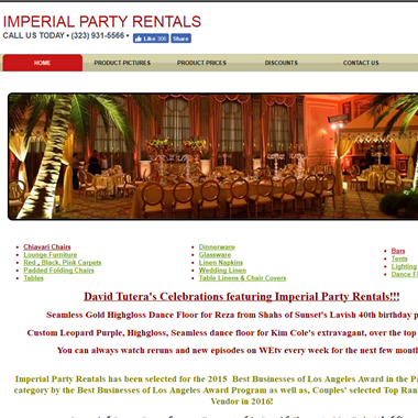 Imperial Party Rentals wedding vendor preview