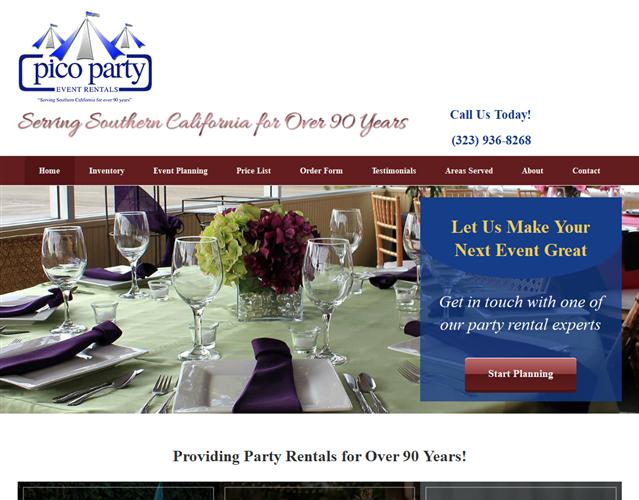 Pico Party Rents wedding vendor photo