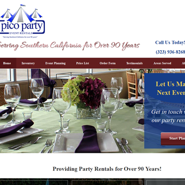 Pico Party Rents wedding vendor preview