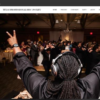 Texas Professional Disc Jockey wedding vendor preview