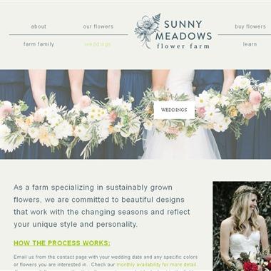 Sunny Meadows Flower Farm wedding vendor preview