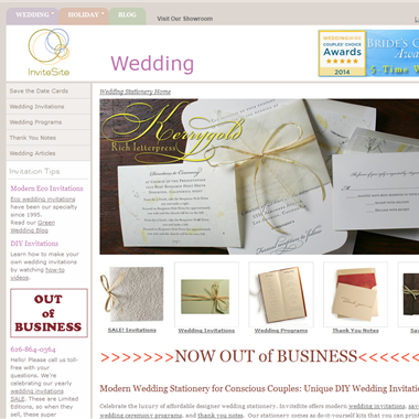 InviteSite wedding vendor preview