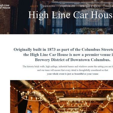 High Line Car House wedding vendor preview