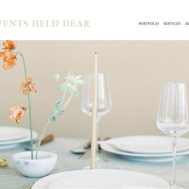 Events Held Dear wedding vendor preview