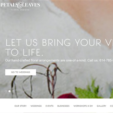 Petals & Leaves wedding vendor preview