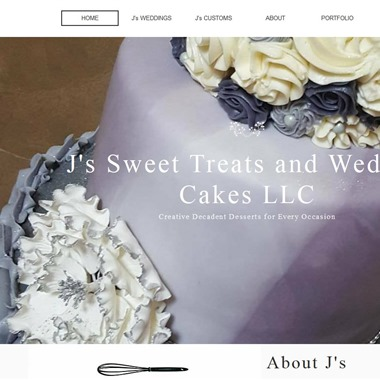 J's Sweet Treats and Wedding Cakes wedding vendor preview
