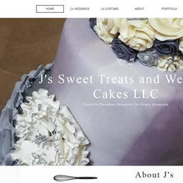 J's Sweet Treats and Wedding Cakes photo