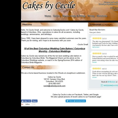 Cakes by Cecile wedding vendor preview