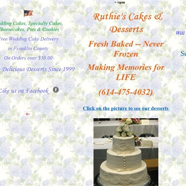 Ruthies Cakes & Desserts wedding vendor preview