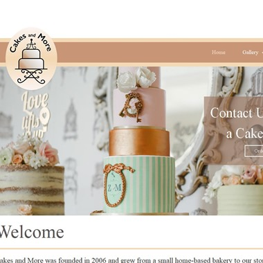 Cakes and More wedding vendor preview