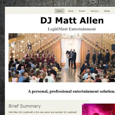 DJ Matt Allen - Legitimatt Entertainment wedding vendor preview