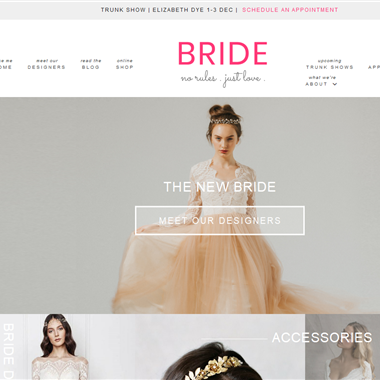 Bride Boutique wedding vendor preview