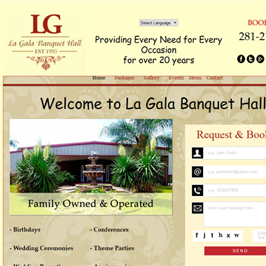 La Gala Hall wedding vendor preview