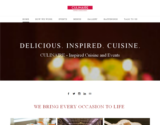 Culinaire-Gourmet Food Catering wedding vendor photo