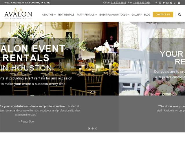 Avalon Event Rentals wedding vendor photo