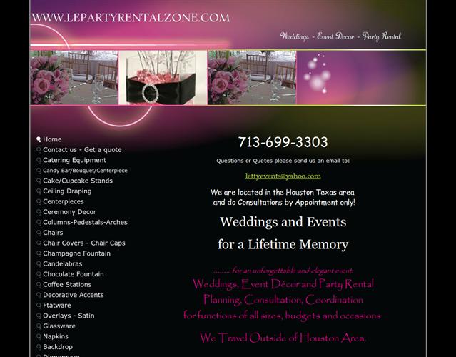 Le Party Rental Zone wedding vendor photo