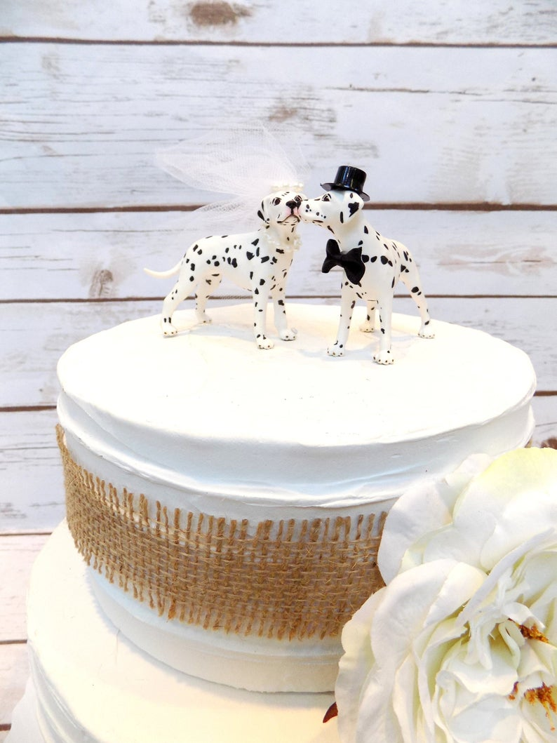 Dalmatian Dog Cake Topper