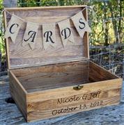 Rustic Wooden Card Box - Ru...