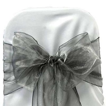 mds Pack of 100 Organza Chair Sashes Bow Sash for Wedding and Events