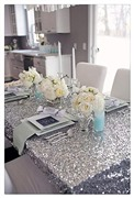 B-COOL Silver Sequin Tablec...
