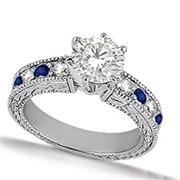 Blue Sapphire and Diamond V...