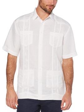 Cubavera Men's Short Sleeve Embroidered Guayabera Shirt
