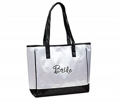 Lillian Rose White Bride Tote Bag Wedding Party Gift