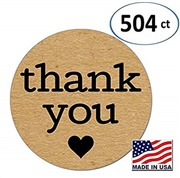 Pack of 504 Kraft Thank You...
