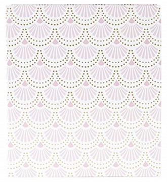"""bloom daily planners Binder (+) 3 Ring Binder (+) 1 Inch Ring (+) 10"""" x 11.5"""" - Gold Scallops"""