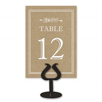 Double Sided Table Card Numbers