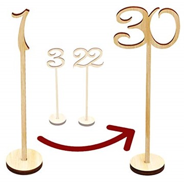 Wooden Table Numbers 1-30 Wedding Decor Centerpieces