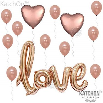 KATCHON 1 Love Kit-Valentines Day Decorations and Gift Foil Heart Balloons