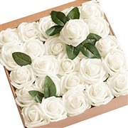 Artificial Flowers 25pcs Re...