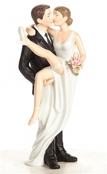 Wedding Collectibles Funny Sexy Over the Threshold Wedding Cake Topper with Bride and Groom