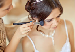 wedding hair and make-up artist photo