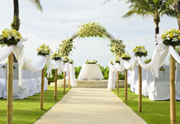 wedding ceremony and reception venue photo